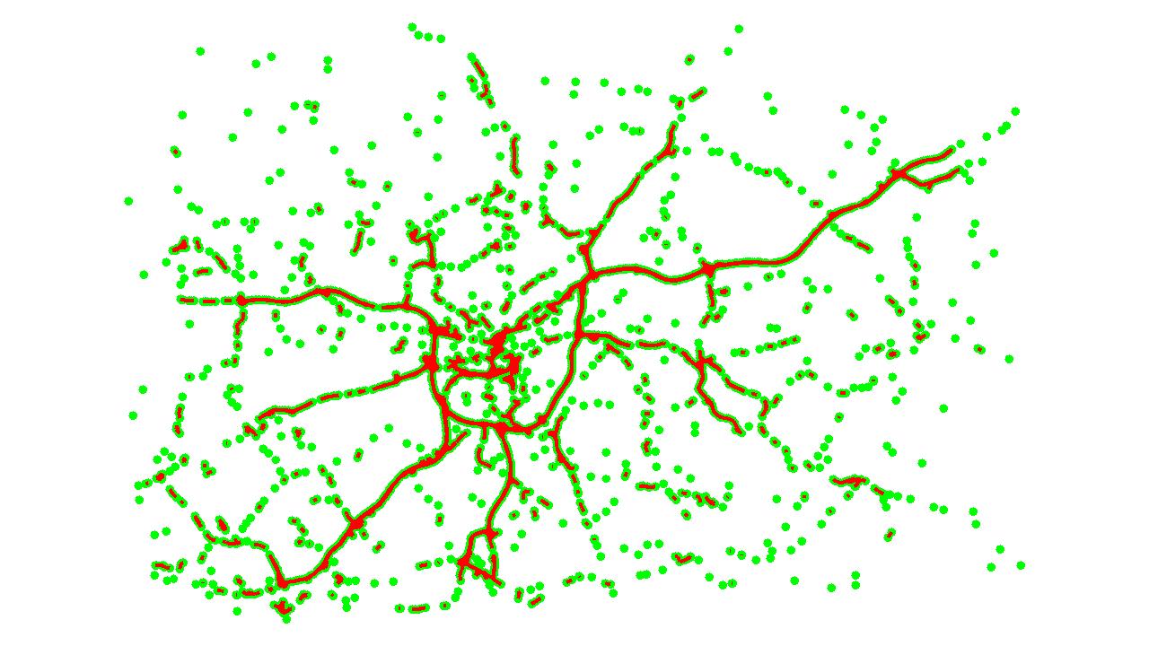 dense traffic